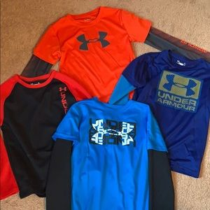 Bundle of boys under armour long sleeve shirts
